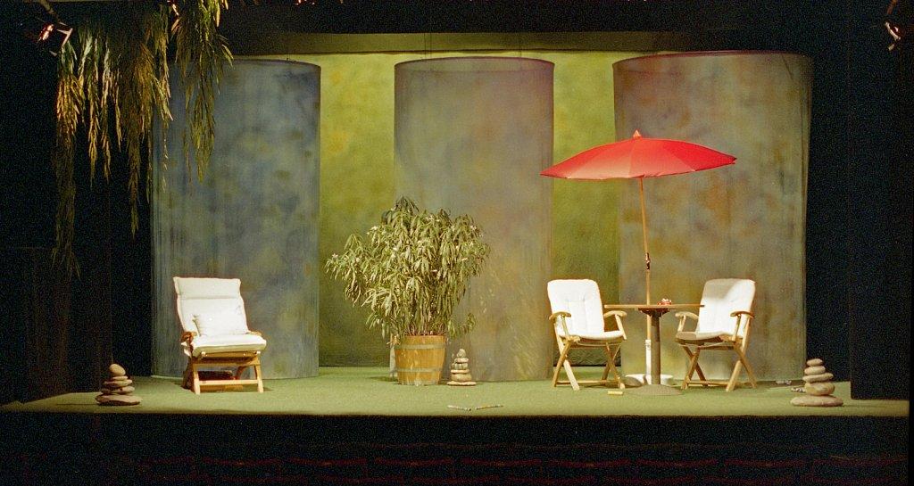 Bühnenbild für 'Morgen vor fünf Jahren' von Herbert Meier, Uraufführung 2005